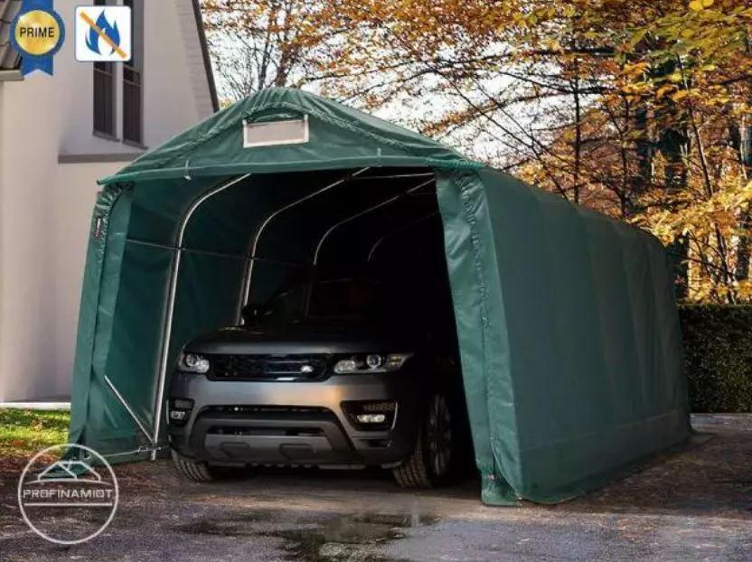 Freemoto - PROFINAMIOT, 3,3x6m Namiot garazowy – 2m brama wjazdowa, PVC trudnopalny 720
